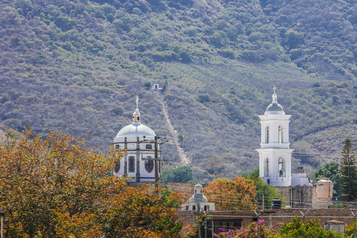 The church in the middle of the nature. Church Church Dome Churchs Landscape Landscapes Mexico Monochrome Mountain Mountains Nature Tower Tower Bridge  Towers Town Town Church TOWNSCAPE Townscapes Tree Trees Urban Urban Landscape