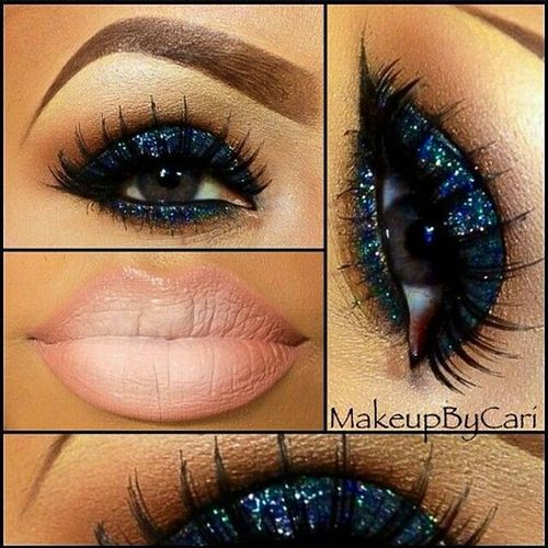 Eyeandlips Blueglitter Blueglittereyes Blueshimmer BlueEyes Eyes Eyemakeup Eyecolor Lips Lipstick Lipcolor Makeup Eyeshadow