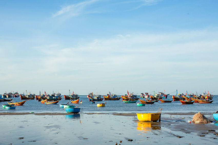 Phan Thiet Beach, Viet Nam Beach Photography Canon5Dmk3 Phan Thiet Skyline Vietnam Beauty In Nature Boat Canon50mm Day Horizon Over Water Landscape Minimal Nature Outdoors Sea Sky Travels Water