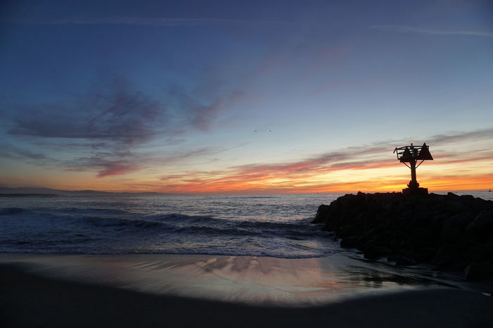 Sunset Silhouette Sea Sky Beach Cloud - Sky Sky Collection Skyline Moss Landing, CA