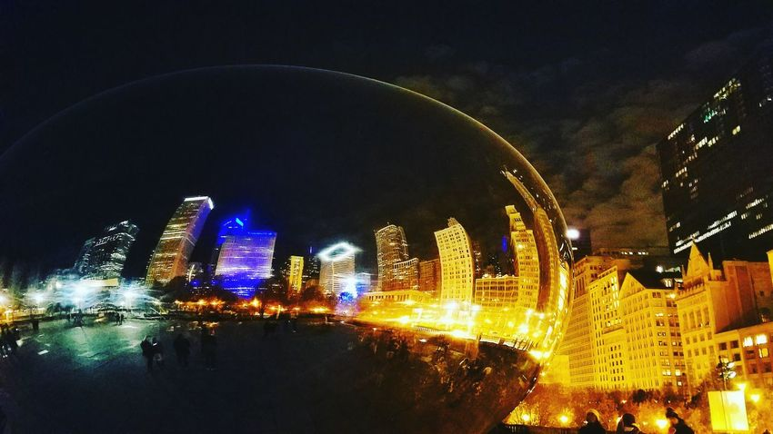Night City Architecture No People Bridge - Man Made Structure Built Structure Building Exterior Illuminated Outdoors Cityscape Sky