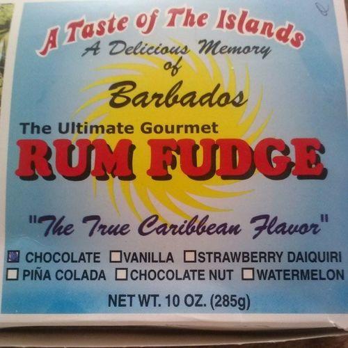 RumFudge Chocolate TrueCaribbeanFlavor Yummy