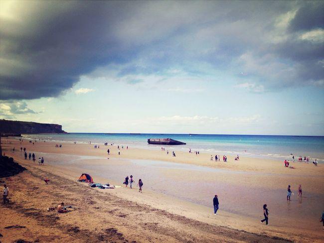 Mulberry Beach History Arromanche France Ddaylandings Normandy