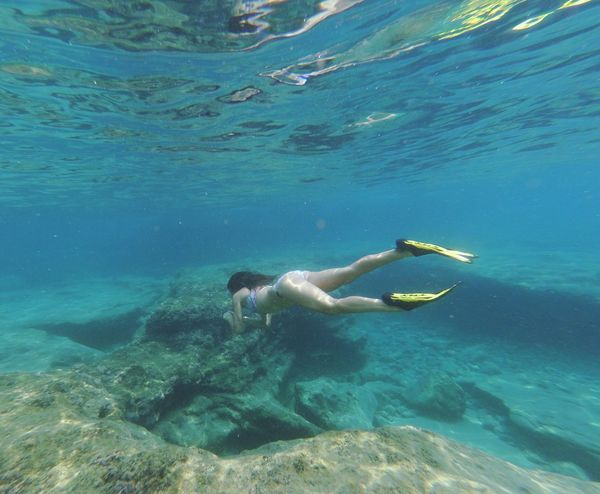 My beautiful girl Water Sea Lifestyles Swimming UnderSea Nature Beauty In Nature Real People
