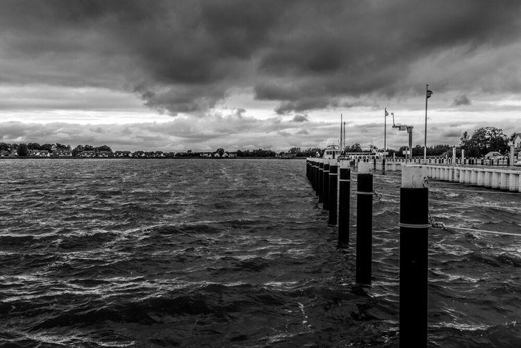 Harbour View Holiday Sea Hafen Zinnowitz Usedom, Germany Ostsee Blackandwhite