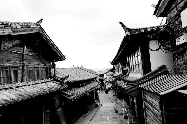 Lijiang Ancient Town Ancient Architectural Buildings Lijing Shades Of Grey Traveling Yunnan ,China