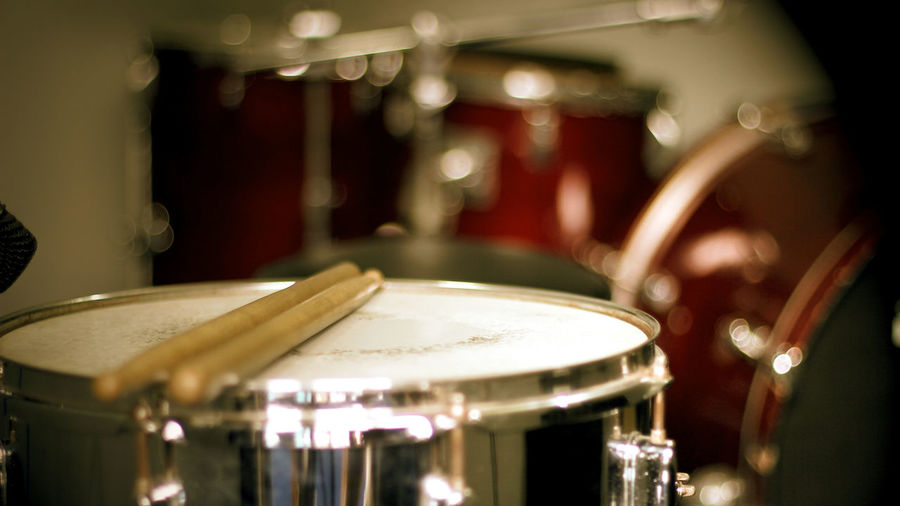 Close-Up Of Drum Kit