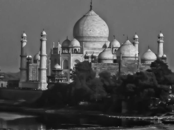 Taj Mahal, Agra Dome Religion Travel Destinations Architecture Outdoors Building Exterior No People Sky City Travel Photography Blackandwhite 7 Wonders Of The World 7 Wonders