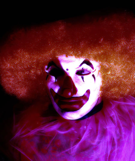 """""""IT"""" At The Fair Being Creative Black Background Close-up Clown EyeEm Best Edits EyeEm Best Shots Horror Indoors  Models My Art, My Soul... My Unique Style Night No People Popular Photos SONY DSC-HX400V Taking Photos"""