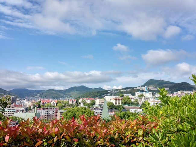 at Glover Garden, Nagasaki, Japan. Traveling Observatory View Cloud And Sky