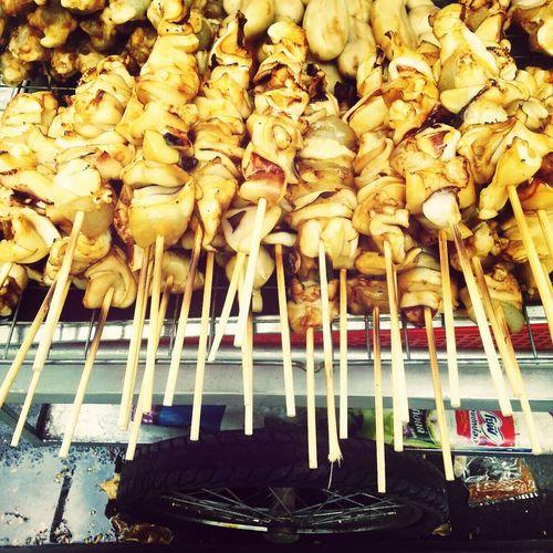 Tasty grilled squid. d=(´▽`) =b Eat Fun