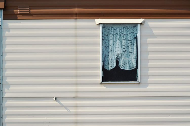 Built Structure Building Summer House Outdoors Window Corrugated Iron Close-up Architecture Closed Locked Residential Structure Exterior