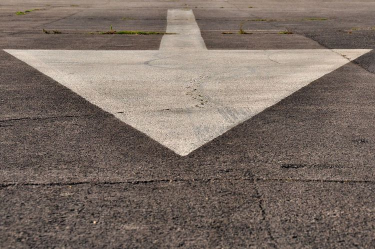 Arrow Arrow Asphalt Direct Directions Painted Point Progress Road Marking Tarmac This Way