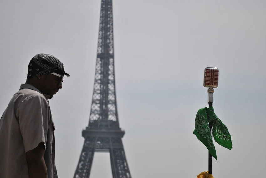 Rap Eiffel Hip Hop Music Architecture Low Angle View Microphone Musician Rap Tourism Tower Travel Travel Destinations EyeEmNewHere The Week On EyeEm Done That.