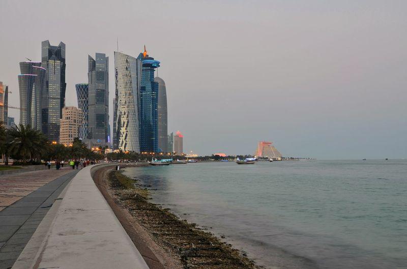 Skyscrapers On Seashore