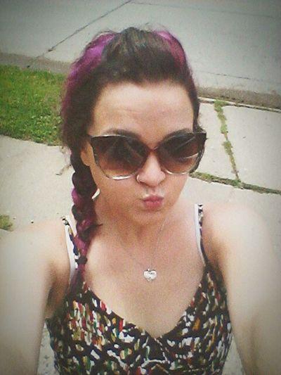 Hello to another year alive 23 Enjoying Life Purplehairdontcare Cancer Birthdaygirl ❤💜👑🎀🎁🎈🎉💐