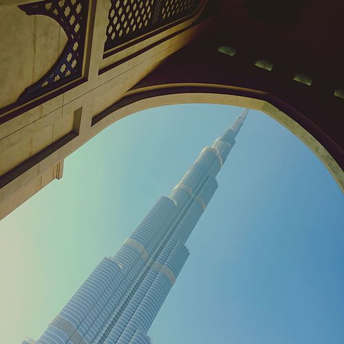 Low Angle View Of Burj Khalifa Seen From Arch