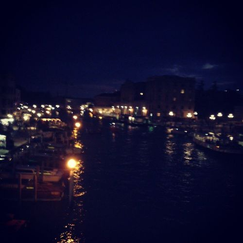 Coming back in Venice with lights and classical music. It's always the most romantic city I know<3 Evening Canal Scalzi