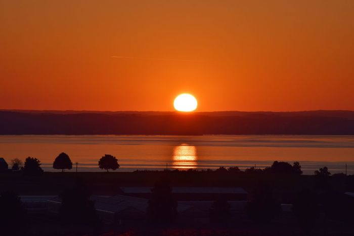 Sunset Orange Color Beauty In Nature Silhouette Scenics Sea Sun Nature Water Tranquil Scene Sky Tranquility Outdoors Beach Horizon Over Water Landscape No People Sonnenaufgang Bodensee Bodenseebilder