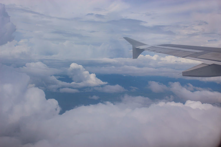 Aerial view of cloudscape against sky