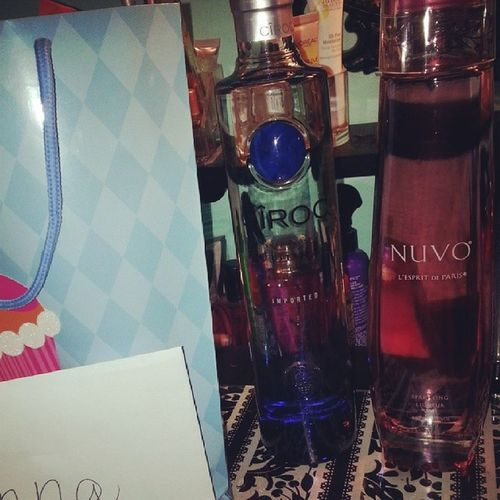 She bought me Ciroc I bought her Nuvo =P Sandiego today my Birthday is going to be the bombs. Thank you for the birthday wishes family and friends. Xoxo