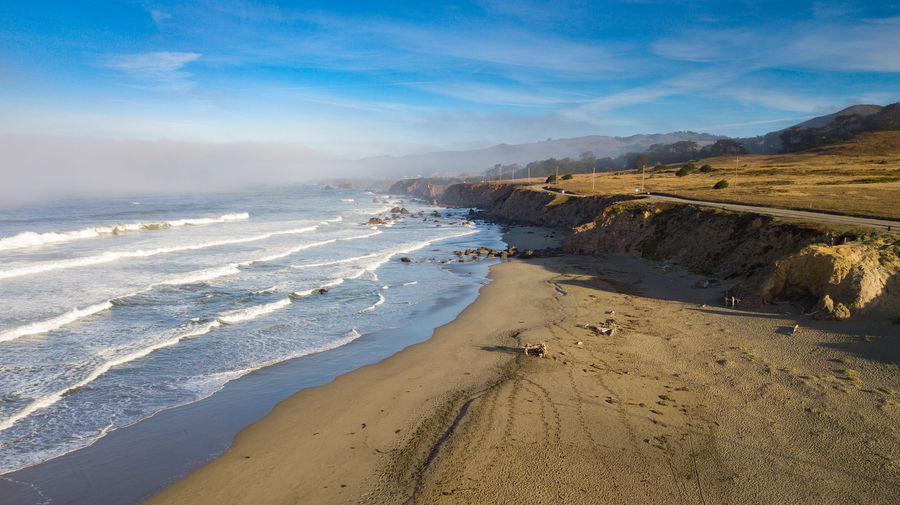 Looking North Up The Coast Ocean Beach Wave Sand Tide Sea Scenics - Nature Outdoors
