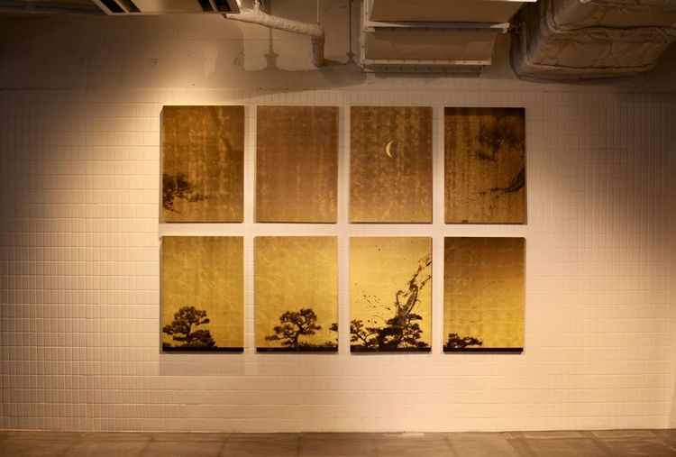 Japanese  Japanese Culture Japanese Style Japonism Moon Wall Wall Art Indoors  Japanese Art Light And Shadow No People Picture Pine Tree
