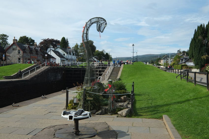 Caledonian Canal, Fort Augustus, Scotland (Neptunes Staircase) Caledonian Canal Canal Locks Neptunes Staircase Scotland Scottish Highlands Canals And Waterways Outdoors Sky Water