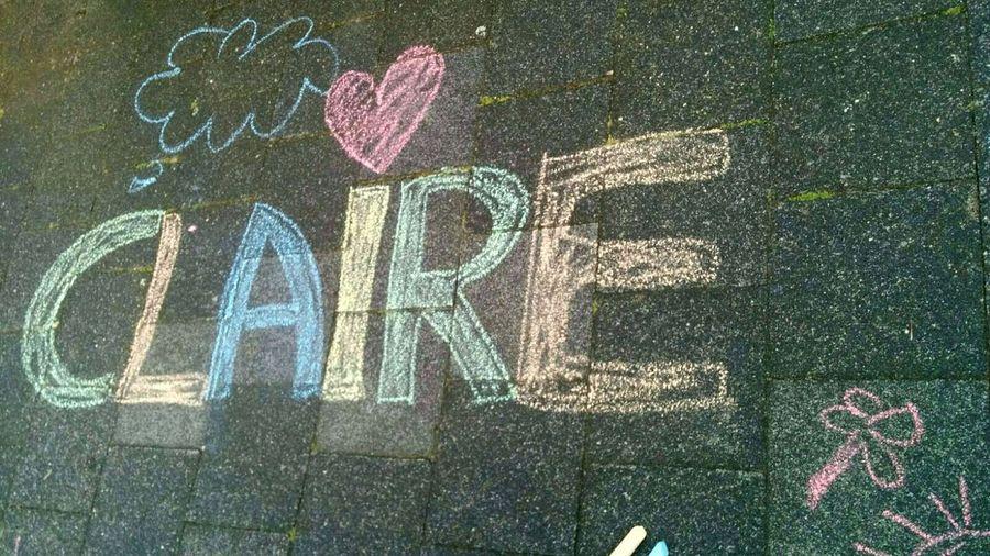 Close up of graffiti