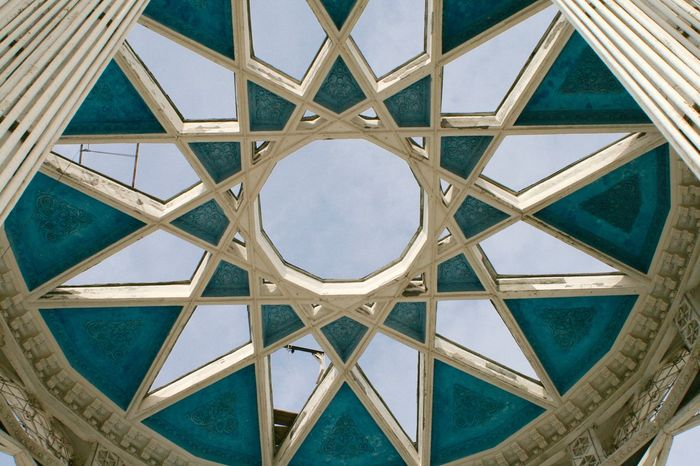 Architectural Feature Architecture Backgrounds Blue Building Built Structure Design Directly Below Geometric Shape Modern Moscow No People Sky Skylight VDNH The Architect - 2016 EyeEm Awards Framed Frame It! My Sky