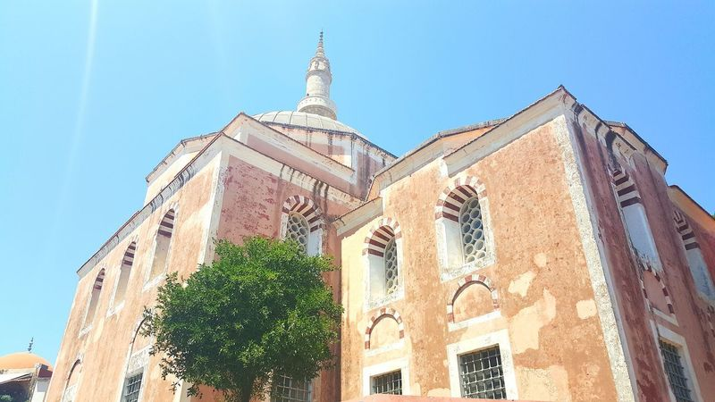 Architecture Building Exterior Built Structure Travel Destinations Business Finance And Industry History City Low Angle View No People Outdoors Mosque Architecture Mosque Mosque Photography Mosques Of The World Minaret Greece Rhodes Greece Spirituality Architecture_collection Ancient Architecture GREECE ♥♥ Landscape Sky Nature Ancient Civilization
