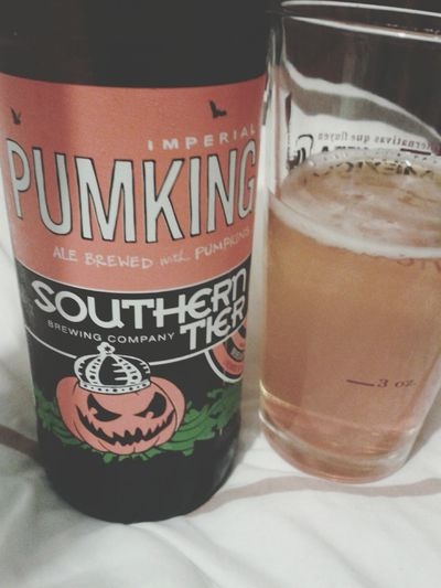 Southern Tier Imperial PUMKING ale brewed with pumpkins. Beer Tasting