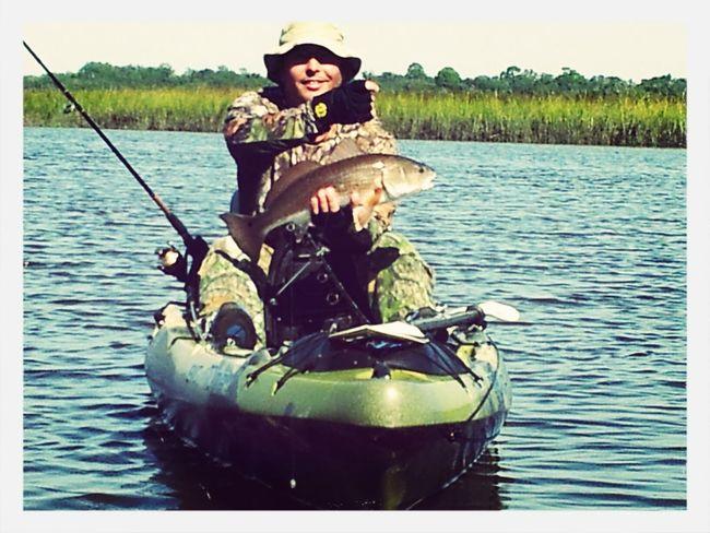 Rick caught his first 25 Red Drum... Kayak Fishing