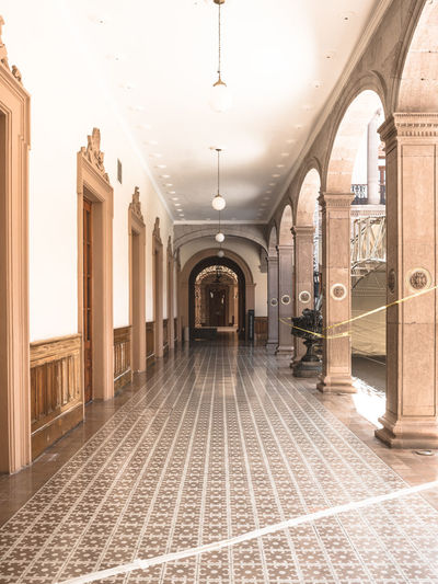 View of corridor in building