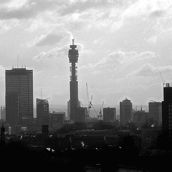 Telecom tower London Skyline Monochrome Monocrome Bandw Bandw #bw_crew #bw_porn #bw #bnw_society #bw_lover #bnw #blackandwhite #blackwhite #bwoftheday #all_shots #igers #igersturkey #igersistanbul #streetphoto_bw #bw_photooftheday #fineart_photobnw #streetphotography #colorsplash #coloursplash #colorsplash_bw Telecom Tower BT Tower London Light And Shadow Horizon Skyscrapers