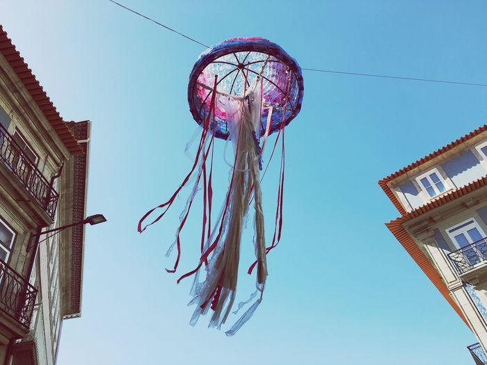 Flying jelly fish... Portugal_lovers Summer Porto Cityscapes Architectural Detail Greetings From Portugal Art Installation Art Sky Color Of Life Color Palette Adapted To The City TCPM An Eye For Travel Visual Creativity Summer Exploratorium A New Beginning