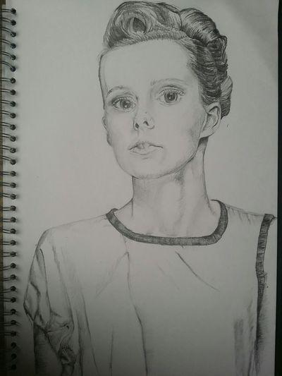 Sketch Drawing Portrait College Work