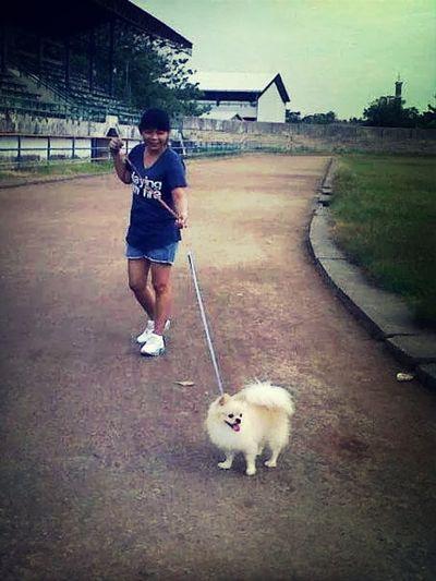 Let's we walking around darling.. Dog Lover Relaxing Enjoying Life Hello World