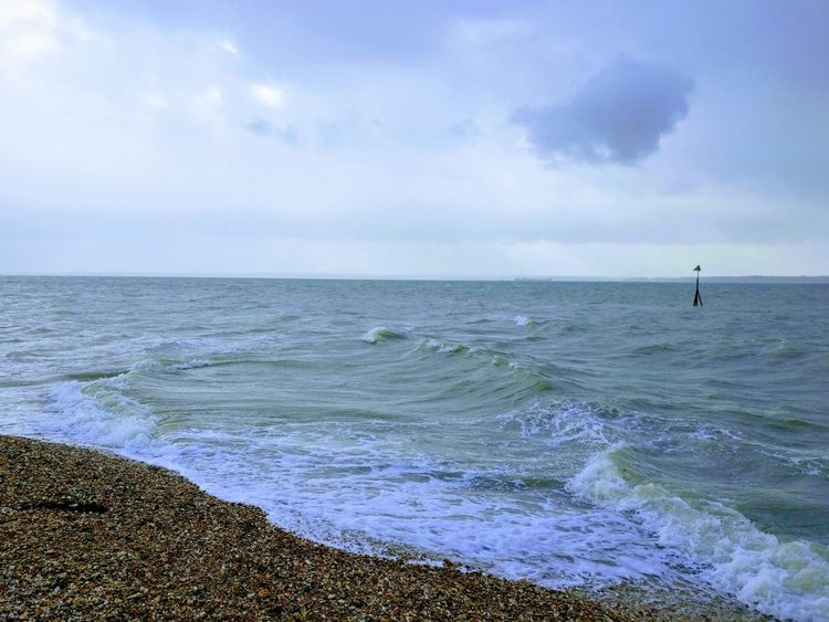 Blustery beach Beach Waves Rolling In Windy Day Blustery Day Shingle Beach English Beach Winter Beach Stormy Nature Outdoors Wave Beauty In Nature Cloud - Sky