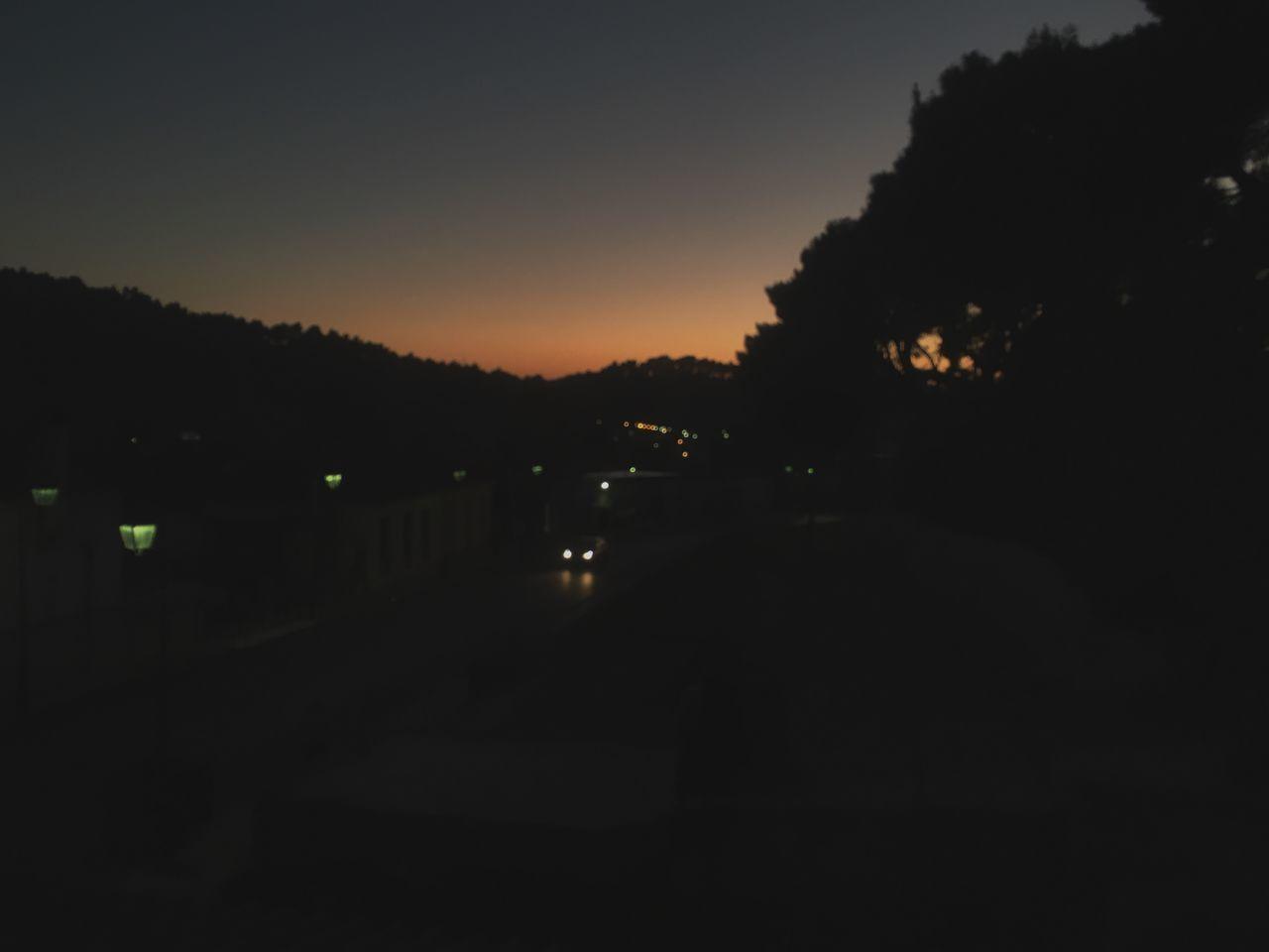 dark, night, silhouette, no people, nature, outdoors, sky