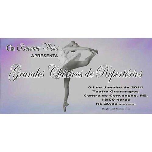 Dia 4 de janeiro, não deixem de assistir. Roseannevieira Ballet Dance Dan ça recife classicos repertório ciarv balletclassico