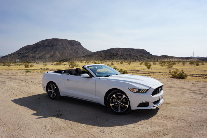 Ford Mustang for our USA Road Trip 2016 California Car Desert Ford Mustang Land Vehicle Mode Of Transport Mojave Nevada Outdoors Road Trip Scenics Sports Car Sunset USA