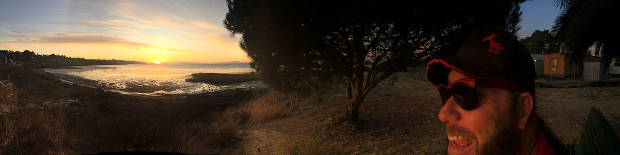 View of the San Francisco Bay from Bay Point park . Richmond Ca