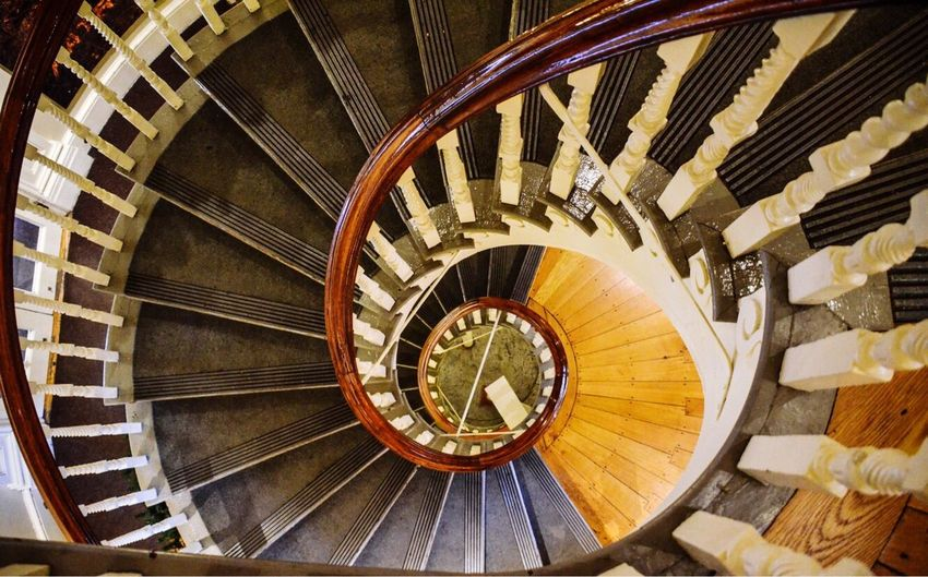 Old State House, Boston Massachusetts EyeEmNewHere Spiral Steps And Staircases Staircase Steps High Angle View Architecture Spiral Staircase No People Close-up Boston Massachussets Art Is Everywhere EyeEm Gallery EyeEm Diversity Old State House American History Nikon Staircase Photography Always Look Down Depth Of Field