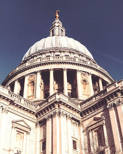 EyeEm LOST IN London StPaulscathedral Stpauls London Architecture Built Structure Dome Building Exterior Low Angle View Travel Destinations No People Travel Day Outdoors Sky Politics And Government Londonthroughmycam Londonlife LONDON❤ London_only London Architecture LondonLove Londonlifestyle