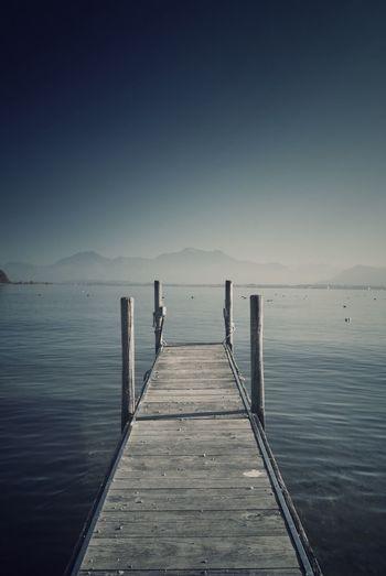 Steg Beauty In Nature Clear Sky Direction Idyllic Nature Non-urban Scene Outdoors Pier Scenics - Nature Sea Sky The Way Forward Tranquil Scene Tranquility Water Wood - Material Wooden Post EyeEmNewHere