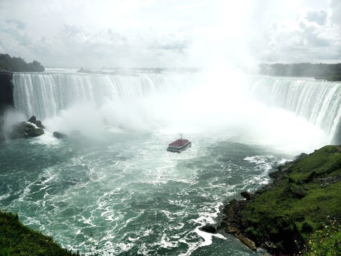 Water Scenics - Nature Motion Beauty In Nature Waterfall Day Nature Tourism Travel Destinations