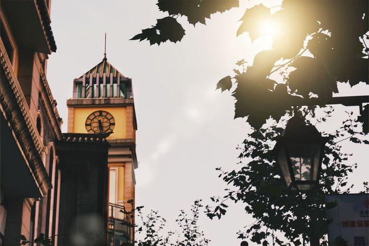 Clock Tower Travel Destinations Clock Architecture Built Structure History Outdoors Time Clock Face Building Exterior City No People Politics And Government Day Sky