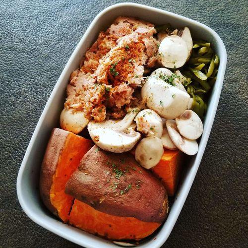 mealprep Tuna #tuna Sandwich Food Vegan #vegetarian #keto #ketogenic #WorkFlow Mealprep Sweetpotato Bowl Directly Above Close-up Food And Drink Potato Prepared Food Fried Potato Tasty Seafood