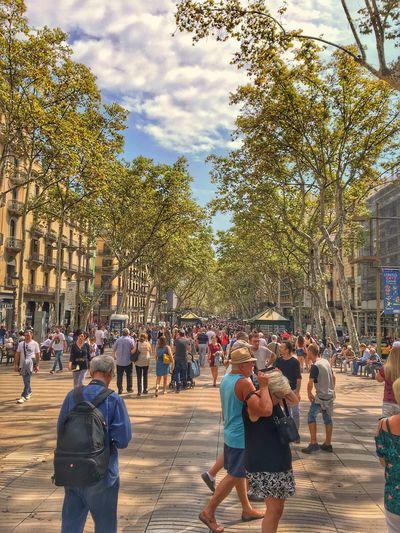 La Rambla Barcelona Barcelona Larambla SPAIN Real People City Life Lifestyles